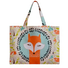 Foxy Fox Canvas Art Print Traditional Medium Zipper Tote Bag