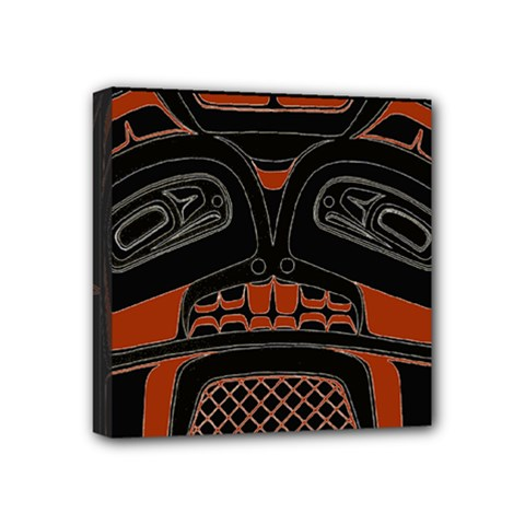 Traditional Northwest Coast Native Art Mini Canvas 4  X 4