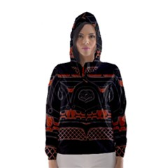 Traditional Northwest Coast Native Art Hooded Wind Breaker (women)