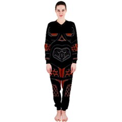 Traditional Northwest Coast Native Art Onepiece Jumpsuit (ladies)