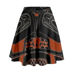 Traditional Northwest Coast Native Art High Waist Skirt