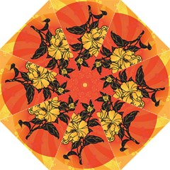Vector Asian Flowers Golf Umbrellas
