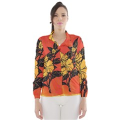 Vector Asian Flowers Wind Breaker (women)