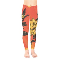 Vector Asian Flowers Kids  Legging by BangZart