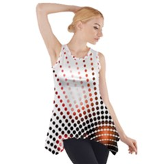 Radial Dotted Lights Side Drop Tank Tunic