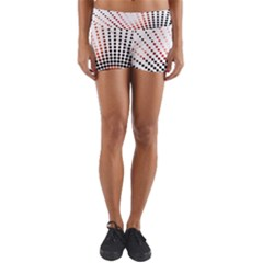 Radial Dotted Lights Yoga Shorts