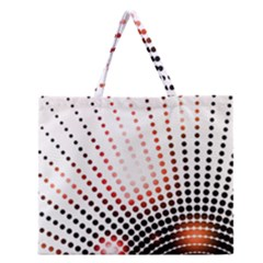 Radial Dotted Lights Zipper Large Tote Bag