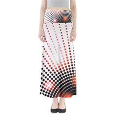 Radial Dotted Lights Full Length Maxi Skirt