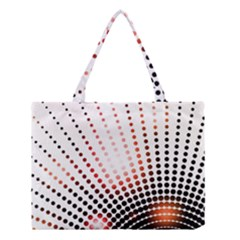 Radial Dotted Lights Medium Tote Bag