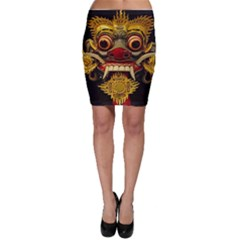 Bali Mask Bodycon Skirt