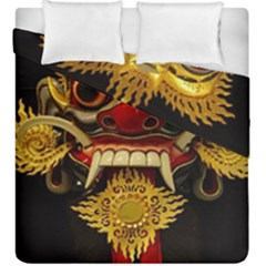 Bali Mask Duvet Cover Double Side (king Size) by BangZart