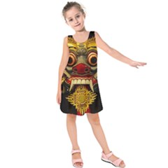 Bali Mask Kids  Sleeveless Dress