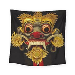 Bali Mask Square Tapestry (small)