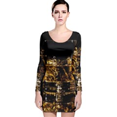 Drink Good Whiskey Long Sleeve Velvet Bodycon Dress by BangZart