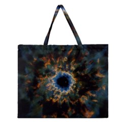 Crazy  Giant Galaxy Nebula Zipper Large Tote Bag