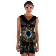 Crazy  Giant Galaxy Nebula Wrap Front Bodycon Dress