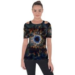 Crazy  Giant Galaxy Nebula Short Sleeve Top