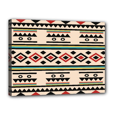 Tribal Pattern Canvas 16  X 12  by BangZart