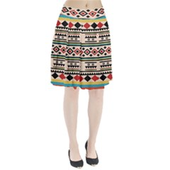 Tribal Pattern Pleated Skirt by BangZart