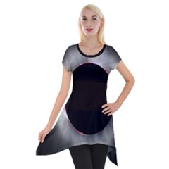 Solar Eclipse Short Sleeve Side Drop Tunic