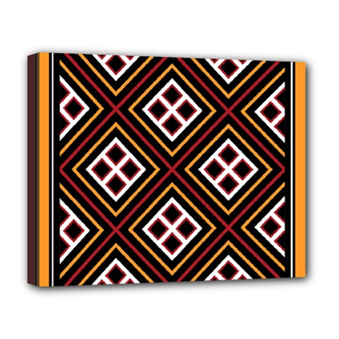 Toraja Pattern Pa re po  Sanguba ( Dancing Alone ) Deluxe Canvas 20  X 16   by BangZart