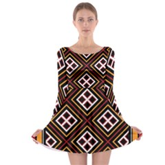Toraja Pattern Pa re po  Sanguba ( Dancing Alone ) Long Sleeve Skater Dress