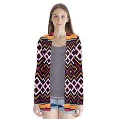 Toraja Pattern Pa re po  Sanguba ( Dancing Alone ) Drape Collar Cardigan
