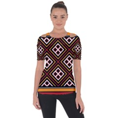 Toraja Pattern Pa re po  Sanguba ( Dancing Alone ) Short Sleeve Top