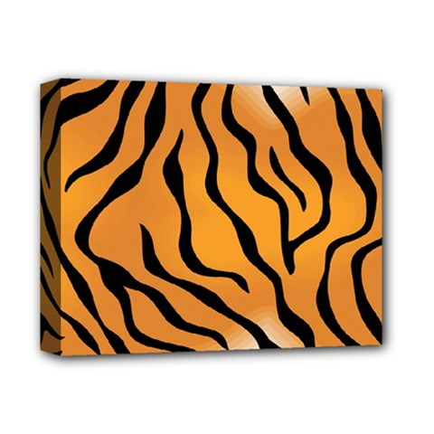 Tiger Skin Pattern Deluxe Canvas 14  X 11