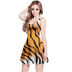 Tiger Skin Pattern Reversible Sleeveless Dress