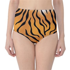 Tiger Skin Pattern High Waist Bikini Bottoms