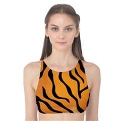 Tiger Skin Pattern Tank Bikini Top