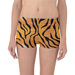 Tiger Skin Pattern Reversible Boyleg Bikini Bottoms