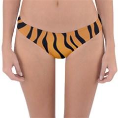 Tiger Skin Pattern Reversible Hipster Bikini Bottoms