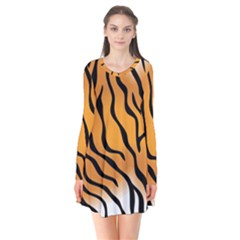 Tiger Skin Pattern Flare Dress