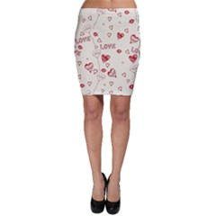 Pattern Hearts Kiss Love Lips Art Vector Bodycon Skirt