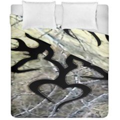 Black Love Browning Deer Camo Duvet Cover Double Side (california King Size)