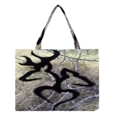 Black Love Browning Deer Camo Medium Tote Bag