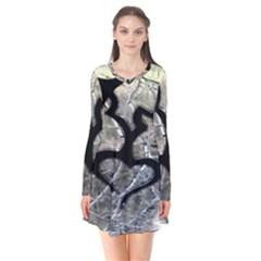 Black Love Browning Deer Camo Flare Dress