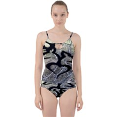 Black Love Browning Deer Camo Cut Out Top Tankini Set