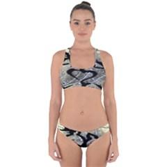 Black Love Browning Deer Camo Cross Back Hipster Bikini Set