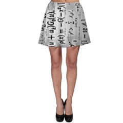 Science Formulas Skater Skirt by BangZart