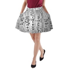 Science Formulas A Line Pocket Skirt