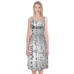 Science Formulas Midi Sleeveless Dress
