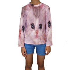 Cat  Animal  Kitten  Pet Kids  Long Sleeve Swimwear