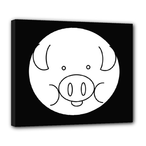 Pig Logo Deluxe Canvas 24  X 20   by BangZart