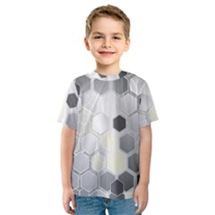Honeycomb Pattern Kids  Sport Mesh Tee