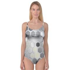 Honeycomb Pattern Camisole Leotard