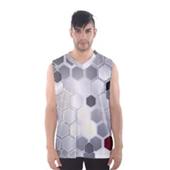 Honeycomb Pattern Men s Basketball Tank Top