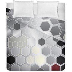 Honeycomb Pattern Duvet Cover Double Side (california King Size)